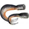 Náhradní ocásky Savage Gear 3D Hard Eel Tails 17 cm Dirty Silver