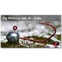 Jigová hlavička Matzuo 2,0g - háček 4 Red
