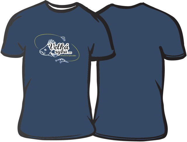 Rybářské tričko Velká Ryba modré