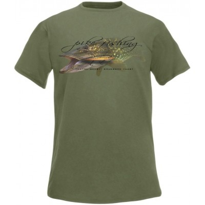 T-Shirt  Flotsam Zander Soft Lure Jigging Addiction - Graphite