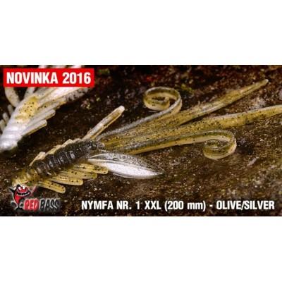Nymfa Redbass Nr. 1 XXL Olive/Silver 200 mm