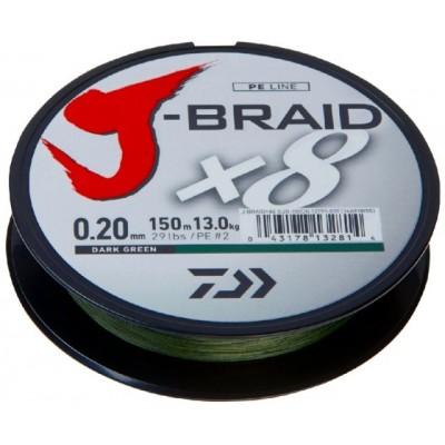 Šňůra Daiwa J-Braid 150 m Green