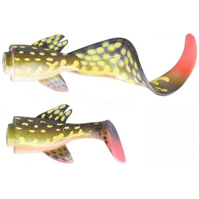 Náhradní ocásky Savage Gear 3D Hybrid Pike 17 cm Spare Tail Kit Yellow Pike
