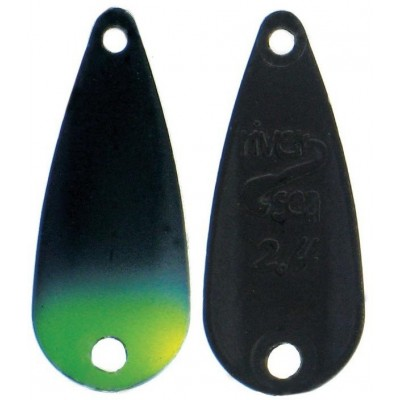 Plandavka River2Sea TT-Spoon 1,0 g Black/Yellow Tip