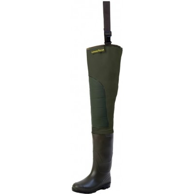 Brodící boty Goodyear Hip Waders Cuissarde SP Green