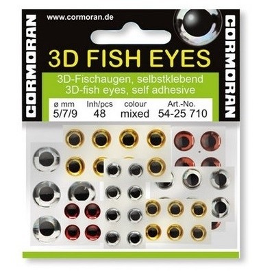 Cormoran 3D Fish Eyes Silver 7 mm