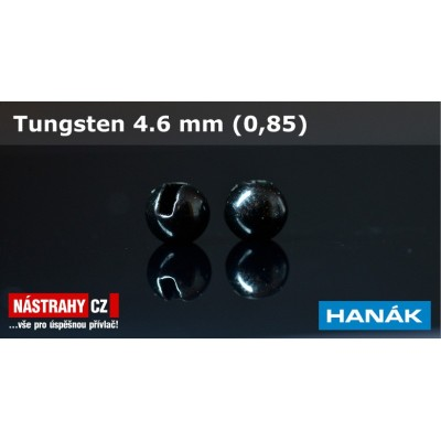Tungsten Beads 4,6mm 0,85g Black 5Pcs