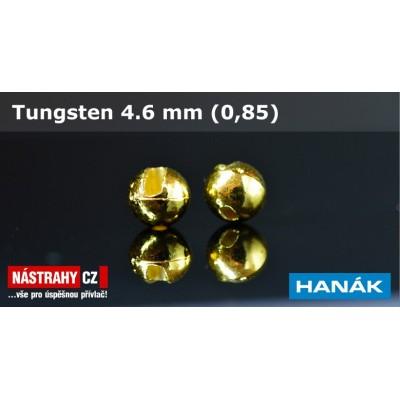 Wolframová hlavička 4,6mm 0,85g Gold
