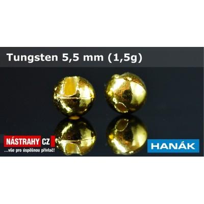 Tungsten Beads 5,5mm 1,5g Gold