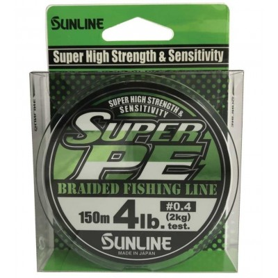 Braid Sunline Super PE 150 m Light Green