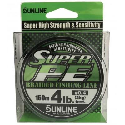 Braid Sunline Super PE 150 m Light Green