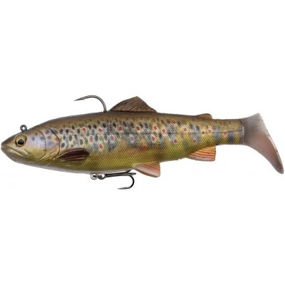 Pstruh Savage Gear 4D Trout Rattle Shad 17 cm Dark Brown Trout