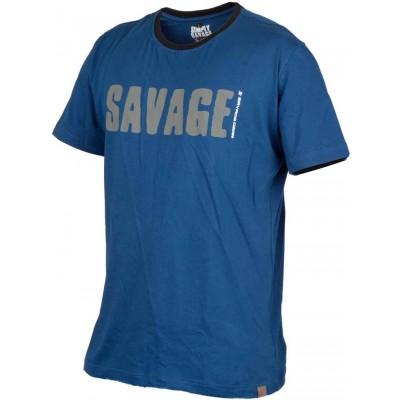 Rybářské tričko Savage Gear Simply Savage Tee Blue