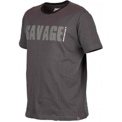 Rybářské tričko Savage Gear Simply Savage Tee Grey