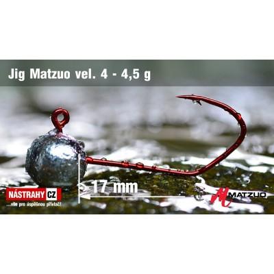 Jig Head Matzuo - hook 4 Red 4,5g