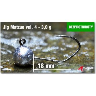 Jig Head Matzuo Barbless - hook 2 Bronz 3,0g