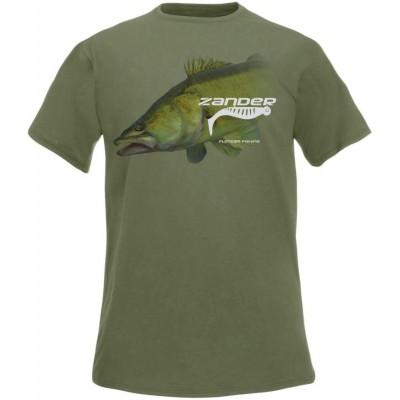 Rybářské tričko Flotsam Zander - Olive