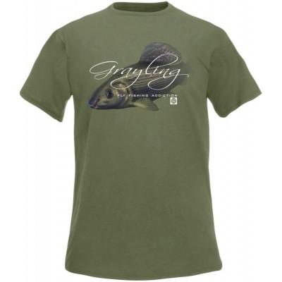 Rybářské tričko Flotsam Lipan s muškou I - Olive