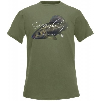 T-Shirt  Flotsam Grayling Fly I - Olive