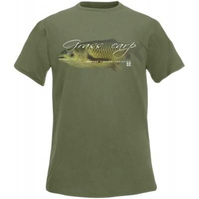 T-Shirt  Flotsam Grass Carp I - Olive