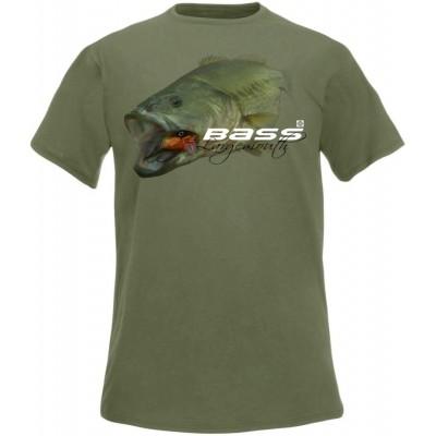 Rybářské tričko Flotsam Okounek pstruhový I - Olive