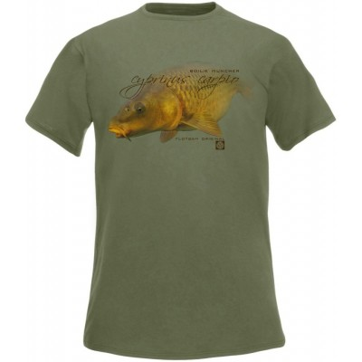 Rybářské tričko Flotsam Kapr II - Olive
