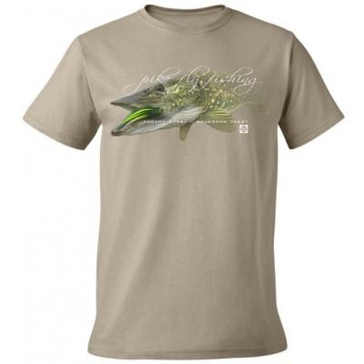 Rybářské tričko Flotsam Štika I - Khaki