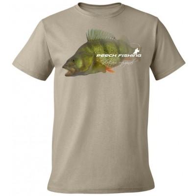 Rybářské tričko Flotsam Okoun III - Khaki