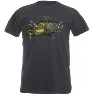 Rybářské tričko Flotsam Candát III - Graphite