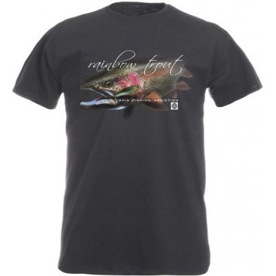 Rybářské tričko Flotsam Pstruh duhový I - Graphite