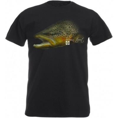 Rybářské tričko Flotsam Pstruh potoční I - Graphite
