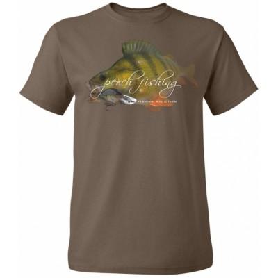 Rybářské tričko Flotsam Okoun II - Chocolate