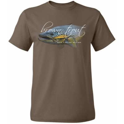 T-Shirt  Flotsam Brown Trout III - Chocolate