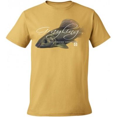 Rybářské tričko Flotsam Lipan s muškou I - Tan