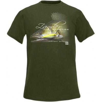 Rybářské tričko Flotsam Candát IV - Military Green