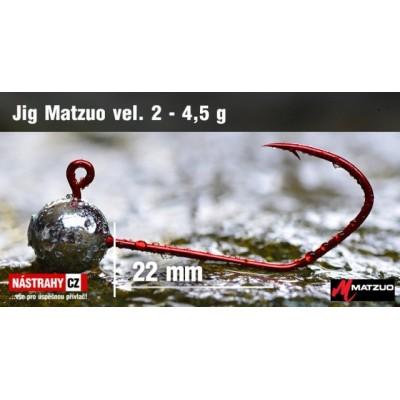 Jig Head Matzuo Barbless - hook 2 Bronz 4,5g