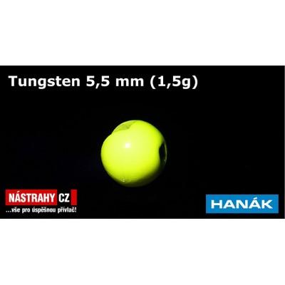 Tungsten Beads 5,5mm 1,5g Fluo
