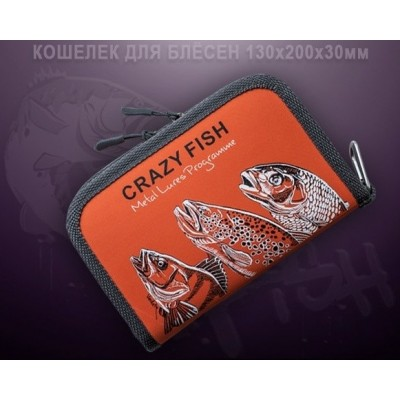 Pouzdro na nástrahy Crazy Fish 130x200x30mm