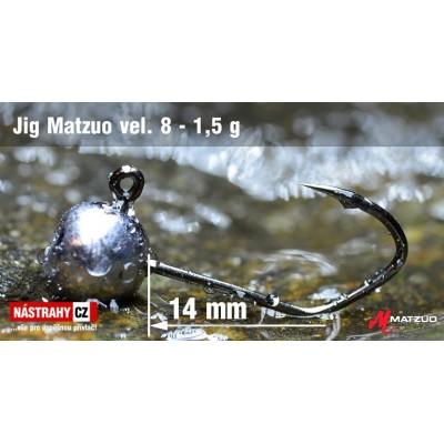Jigová hlavička Matzuo - háček 8 Black 1,5g