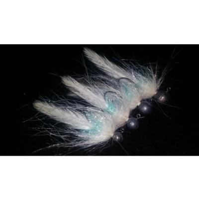 Jigstreamer pstruhový speciál 1g krémová s modrou