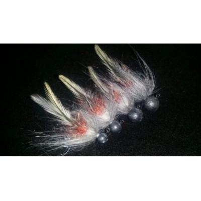 Jigstreamer pstruhový speciál 5g šedý s červenou