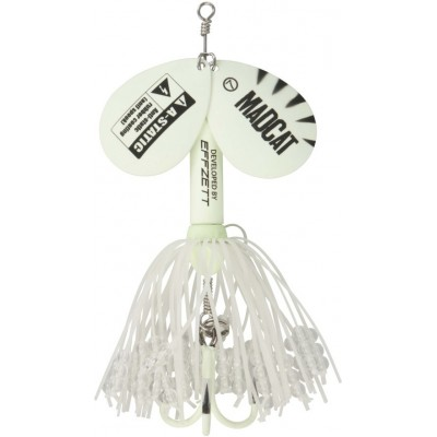 DAM Madcat A-Static Rattlin Teaser Spinner 75 g Glow in the Dark