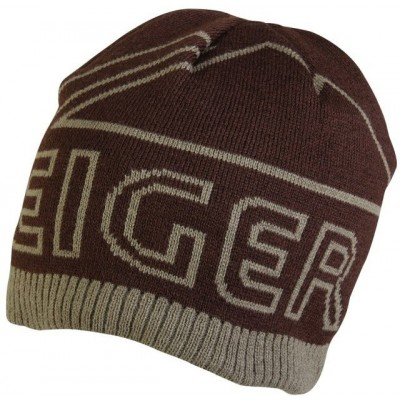 Eiger Logo Knitted Hat Brown