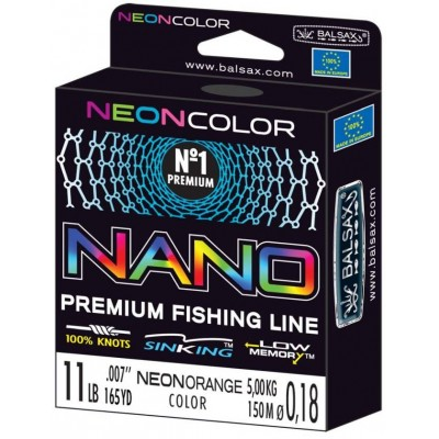 Fishing Line Balsax Nano Neon Orange 150 m