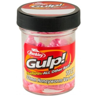 Berkley Gulp Honey Worm 3,5 cm Bubble Gum 18 Pcs