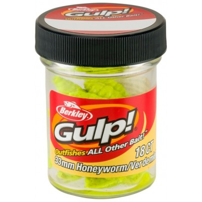 Berkley Gulp Honey Worm 3,5 cm Chartreuse 18 Pcs