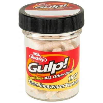 Berkley Gulp Honey Worm 3,5 cm Milky White 18 Pcs