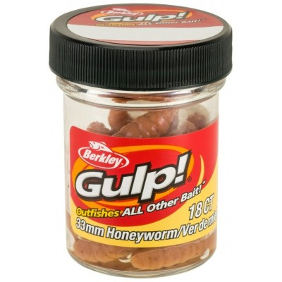Berkley Gulp Honey Worm 3,5 cm Natural 18 Pcs