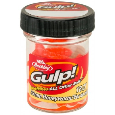 Berkley Gulp Honey Worm 3,5 cm Orange 18 Pcs
