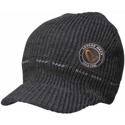 Čepice Savage Gear Simply Savage Knitted Beanie W Brim